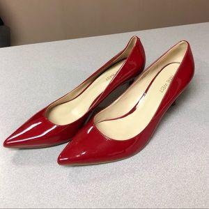 "Nine West women upper leather sz 10 red 3"" pumps"